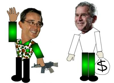 Crónica de lo que no se vio en visita de Bush